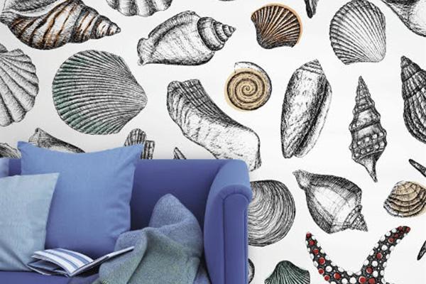 """Da vivere tutto l'anno: le pareti accolgono gli abitanti dell'oceano, è <em>Fondale</em> della collezione <em>Naturalis</em> di <a href=""""http://www.wallpepper.it"""">Wallpepper</a></p>"""