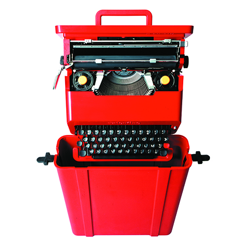Valentine, Typewriter Ettore Sottsass and Perry A. King, 1969 - Manufacturer: Olivetti (photo: Alberto Fioravanti - courtesy: Studio Ettore Sottsass)