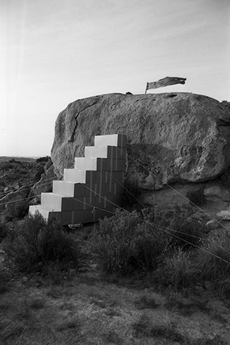 Image from the series «Metafore», Balaguer, 1974 (photo: Ettore Sottsass - courtesy: Studio Ettore Sottsass)