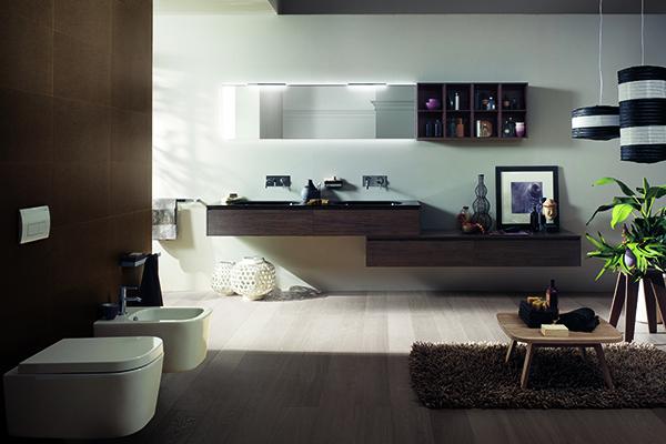 Rivo di Scavolini Bathrooms è un sistema d'arredo modulare pensato per chi desidera un prodotto che permette di progettare lo spazio in libertà