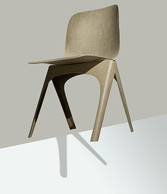 """Una sedia biodegradabile? Sì, esiste. È la <em>Flax Chair</em> in fibra di lino, ideata dalla designer olandese Christien Meindertsma e prodotta da <a href=""""http://www.labelbreed.nl/"""">Label Breed</a>"""