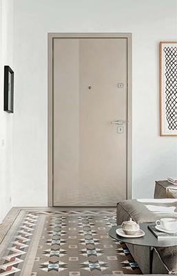 "Axle è la porta blindata di <a href=""http://www.vighidoors.it"">Vighi security doors</a> che si integra bene con gli ambienti moderni"
