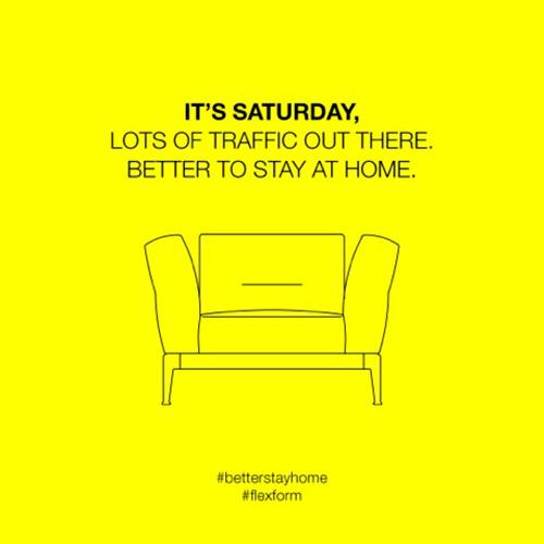 Better Stay Home è il claim scelto da Flexform per la campagna promozione  lanciata sui social network