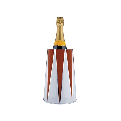"""La glacette <em>Circus</em> di <a href=""""http://www.alessi.com/it"""">Alessi</a> ha una doppiaparete isotermica per mantenere in fresco le bottiglie di champagne o di vino per tutto il corso della serata (55 euro)"""