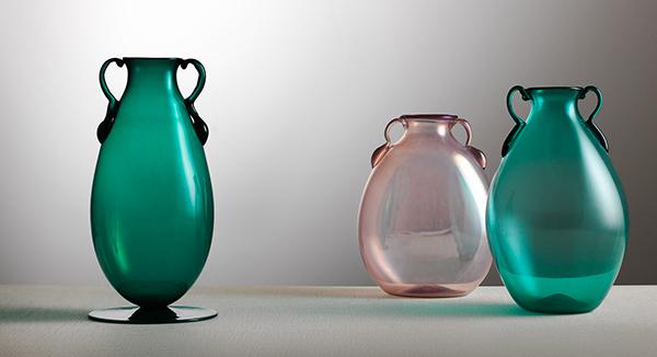 Vittorio Zecchin, Vasi in vetro trasparente 1921-1925