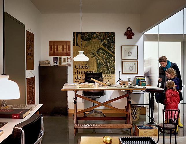 Ricostruzione dell'ufficio Charles Eames nel Vitra Schaudepot. Vitra Design Museum, Foto di Mark Niedermann