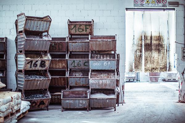 Vetrofond, dove vengono realizzate Tartan e Lumiere. Foto di Gianluca Vassallo