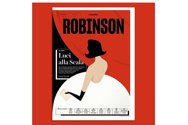 """Per la categoria """"Design per la comunicazione"""" tra i selezionati Robinson  - La Repubblica del Gruppo Editoriale L'Espresso"""