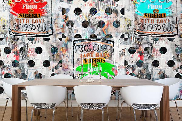 La carta da parati A Siberian Soup di Wallpepper fa parte della linea Fine-Art, che ha come oggetto fotografie, schizzi, fumetti e quadri di celebri artisti