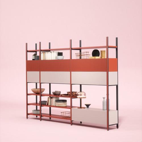 """<a href=""""http://www.novamobili.it"""">Novamobili</a> celebra quest'anno cinquant'anni e lancia a Colonia<em>Pontile</em>, il nuovo sistema di scaffale modulare progettato da Philippe Nigro"""