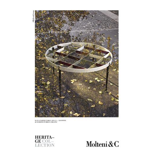 Il coffee table <em>D.555.1</em> e i Giardini Pubblici di Milano