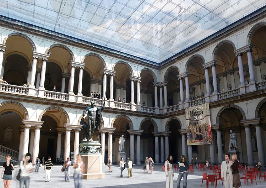 Il progetto di Mario Bellini per il riallestimento della Pinacoteca di Brera. I lavori non sono mai iniziati. «Così va in Italia», racconta l'architetto, «altrove i concorsi vengono promossi e assegnati per poi dare avvio a cantieri che verranno portati a termine»