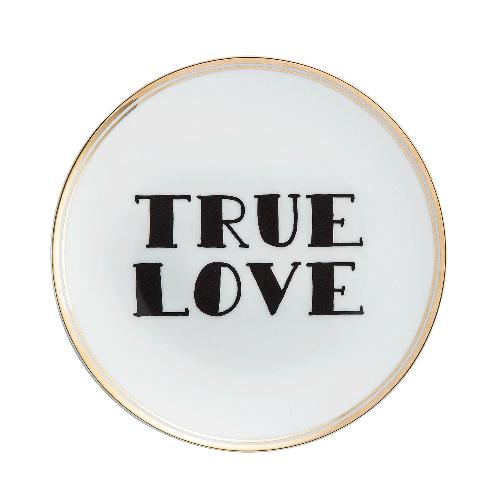 """<em>True love,</em>il piatto della collezione<em> La tavola scomposta</em> di <a href=""""http://www.bitossihome.it/"""">Bitossi Home</a> (22 euro)"""