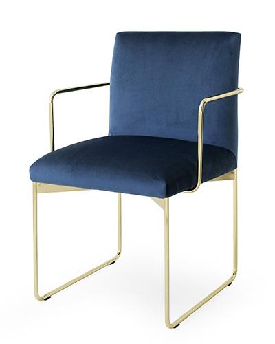 "Gala con struttura in metallo e rivestita in velluto è l'elegante seduta firmata <a href=""https://www.calligaris.com"">Calligaris</a>"