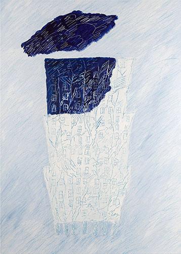"""""""Bosco in città"""", acrilico su tela, 50x70 centimetri, 2013"""