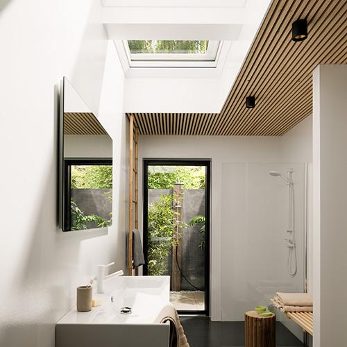 tetti piani con le finestre zenitali pi sole e pi