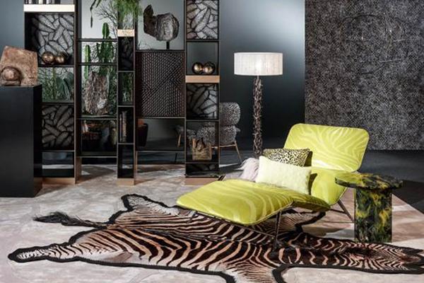I padiglioni 1-3 della fiera sono dedicati al settore del lusso. Si chiama xLux e vede protagonisti marchi moda e altri produttori che fanno riferimento ad esempio al mondo delle auto di alta gamma (in foto un'ambientazione di Roberto Cavalli Home)