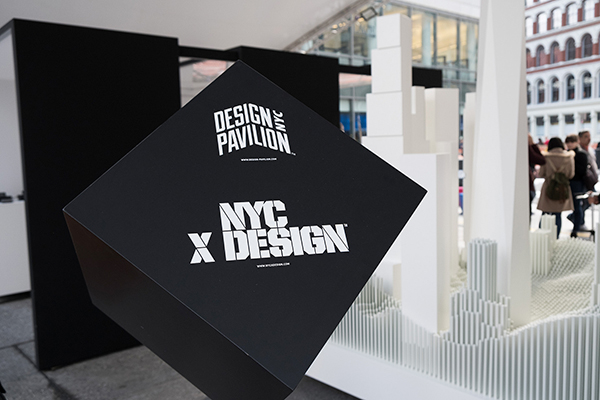 Design Pavilion a Times Square in occasione della scorsa edizione della NYCxDESIGN
