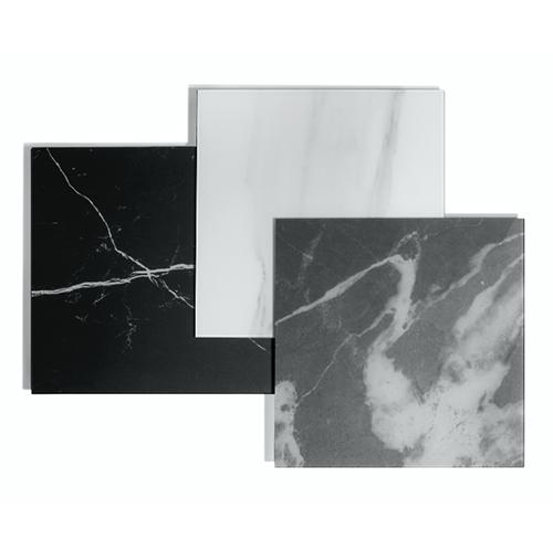 Le finiture Calacatta gold, Calacatta black e Marquina sono i tre pattern marmorei  realizzati in digitale da Lago