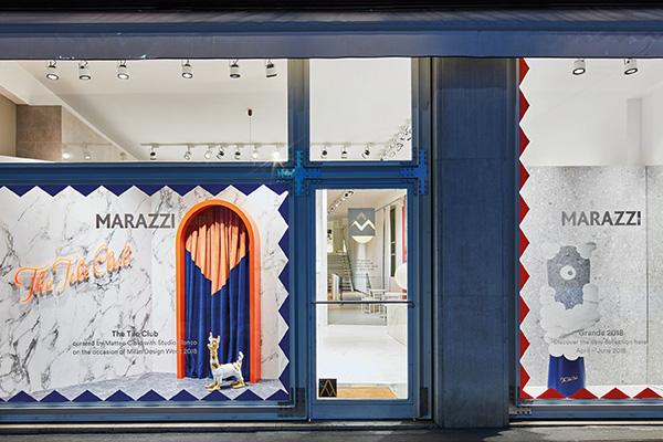The Tile Club si trova al civico 2 di via Borgogna a Milano ed è visitabile fino a giugno (foto Omar Sartor)
