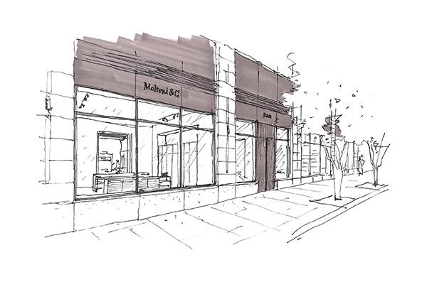 Lo schizzo del nuovo negozio di Molteni&C a New York firmato da Vincent Van Duysen, tra gli eventi della NYCxDESIGN