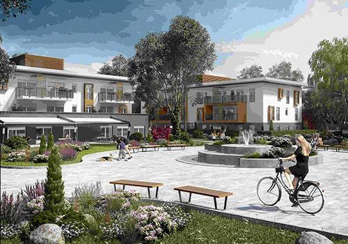 Smart living Lainate. È un complesso immobiliare in fase di realizzazione (la consegna degli appartamenti è prevista per fine estate 2018). Il progetto è costituito da 6 palazzine moderne e dalle dimensioni contenute, composte ognuna da 3 piani fuori terra con circa 15 alloggi ciascuna
