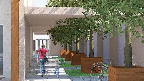 Cohousing Base Gaia (in progress), Via Crescenzago, Milano. È  formata da 10 nuclei provenienti da diversi quartieri di Milano e provincia