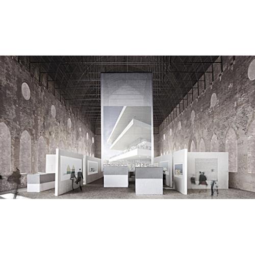 """VICENZA - La Basilica Palladiana di Vicenza accoglie fino al 2 settembre 16 progetti firmati dallo studio di <a href=""""http://www.davidchipperfield.com"""">David Chipperfield</a> (in foto l'anteprima della mostra). Dagli schizzi ai disegni di dettaglio per raccontare «come lavoriamo, come sviluppiamo le nostre idee, come i diversi progetti si muovono in parallelo in luoghi differenti», spiega lo stesso architetto"""