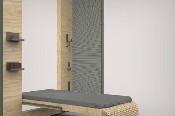 <em>Saudade</em> di Rafaela Veira:  sistema modulare di mobili a scomparsa