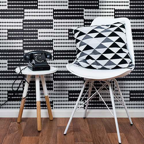 Da Sicis le tessere di mosaico <em>Crystal </em>, una ricca collezione che permette di creare numerose ambientazioni: dai disegni arabeschi ai pattern più moderni come nel caso della serie <em>Domino Zebra</em> in foto