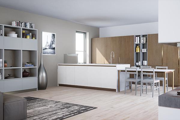 Un esempio della qualità grafica che offre <em>Virtuo</em> nell'ambiente cucina