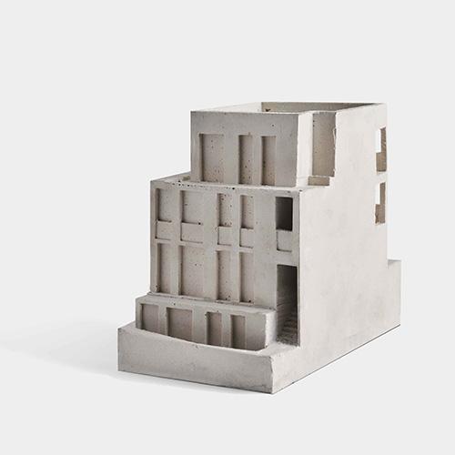 Modello del progetto di appartamenti Long Lane dello studio HASA Architects
