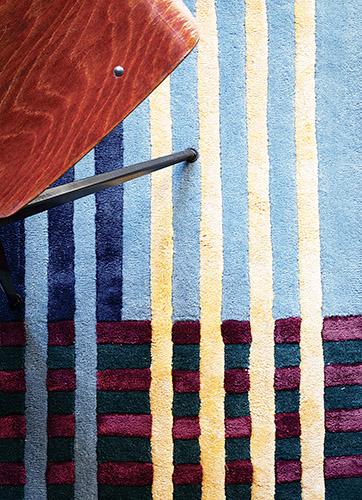 A rappresentare il made in Italy a Maison&Objet c'è Ferruccio Laviani, in foto un dettaglio del tappeto Mallet