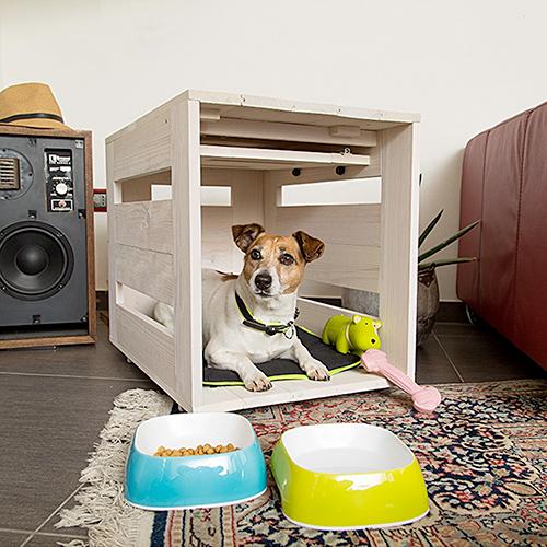 Le cassette di legno invece sono perfette per i riposini di cani e gatti di piccola taglia