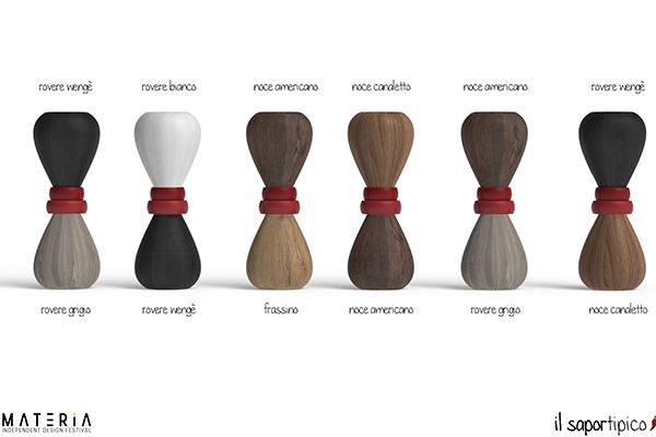 <em>Saportipico</em> di Flavia Aprilini è un set di oggetti per la tavola realizzati con le antiche tecniche tradizionali calabresi della lavorazione della ceramica e del legno
