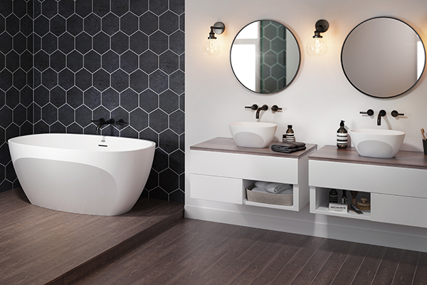 "La vasca <em>Contento</em> di <a href=""http://www.jacuzzi.it"">Jacuzzi</a> si caratterizza per le linee compatte e avvolgenti. È realizzata in <em>Luxecast</em>, un materiale che aiuta a mantenere l'acqua ben calda"