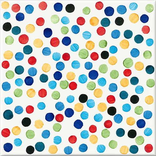 """<a href=""""http://www.francescodemaio.com/"""">Francesco De Maio</a> ha presentato la collezione d'autore <em>Puntini</em> disegnata da Alessandro Mendini: maioliche 20x20 centimetri decorate a mano invase da pennellate a forma di puntini"""