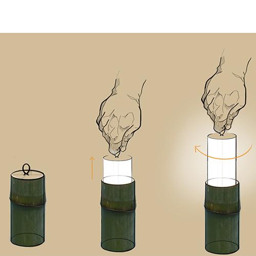 CATEGORIA JUNIOR <em>Bamboo Rush 2018</em> Menzione d'onore a <em>Moonlamp</em> di Anna De Chiara e Federico Vesprini (IED Firenze)