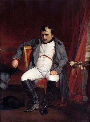 Ritratto di Napoleone I (1769-1821) dopo il suo addio a Fontainebleau, 31 marzo 1814. Dipinto di Paul Delaroche (1797-1856) 1840. 1,8 x 1,3 m. Museo dell'Esercito, Parigi (foto di Leemage / Corbis via Getty Images)