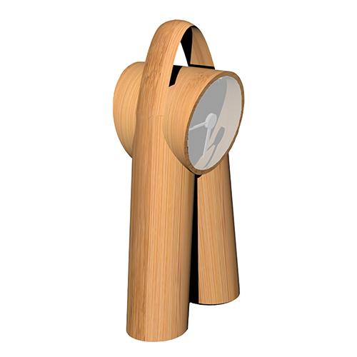 CATEGORIA JUNIOR <em>Bamboo Rush 2018</em> Primo premio alla lampada-orologio trasportabile <em>Chronolux</em> di Maria Sole Bini, Danyana Tumenbayeva, Alessia Di Spena (IED Firenze)