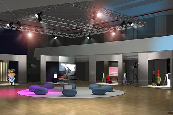 L'allestimento della mostra  <em>LG Signature Artweek 2018</em> a Francoforte