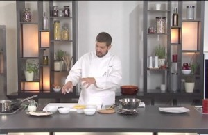 Polenta rosolata con baccalà mantecato