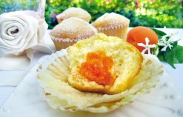 Muffin con cuore di albicocche