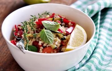 Insalata di quinoa e ratatouille