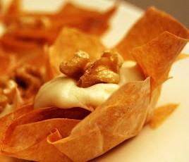 Cestini con mousse di gorgonzola e noci