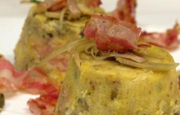 Tortino carciofi, patate e pancetta
