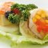 Aspic con polpa di nasello, olive e peperone
