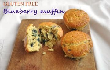 Muffin ai mirtilli senza glutine