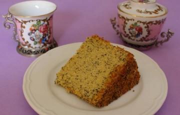 Chiffon cake al papavero e arancia candita