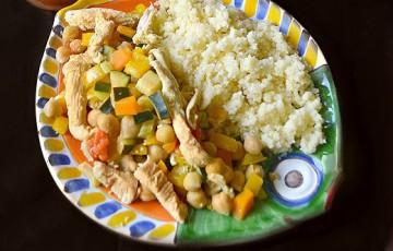 Cous cous di pollo e ceci alla marocchina